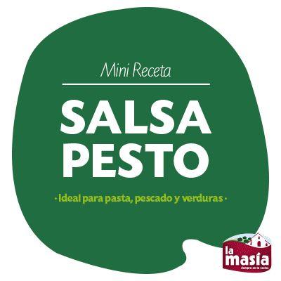 ¿Has probado alguna vez la #salsa #pesto? Es muy fácil de preparar y va genial con pasta, pescado y verduras.