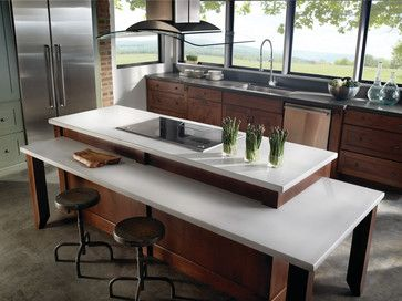 Eco by Cosentino - contemporary - kitchen countertops - other metro - Green Depot  2-level island