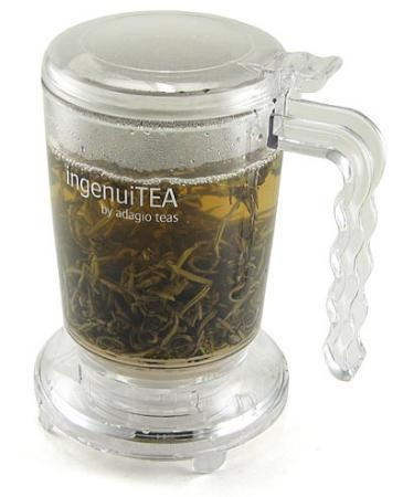 The IngenuiTEA Teapot will let you enjoy the finest of fresh brews at your desk. You simply add loose leaves and hot water and wait for it to brew.