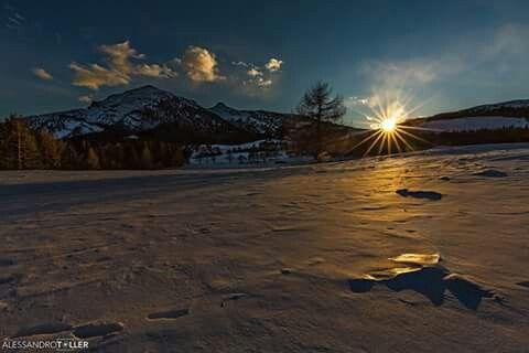 #ambiente #Trentino una splendida giornata si chiude con uno splendido tramonto  (foto di Alessandro Toller)