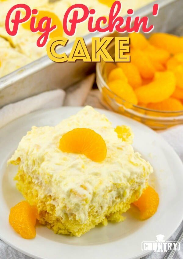 Pig Pickin Cake recipe from The Country Cook (also known as Mandarin Orange Cake or Pea Pickin Cake)