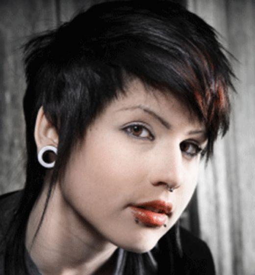 Cute Goth Hairstyles | Short Hair Emo Girl
