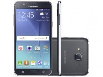 """Smartphone Samsung Galaxy J7 Duos 16GB Preto - Dual Chip 4G Câm 13MP + Selfie 5MP Flash Tela 5.5"""" de R$ 1.399,00 por R$ 969,90."""