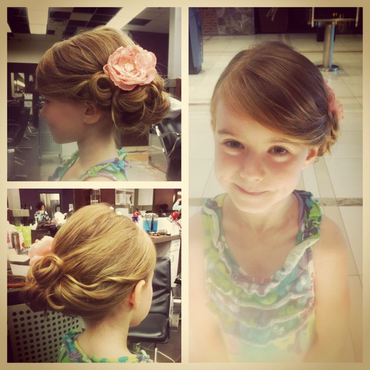 Girl Hairstyles Wedding: Little Girls Updo I Did