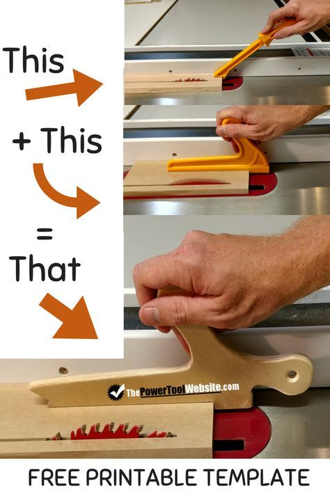 Combo Push Stick – Push Shoe For Your Table Saw