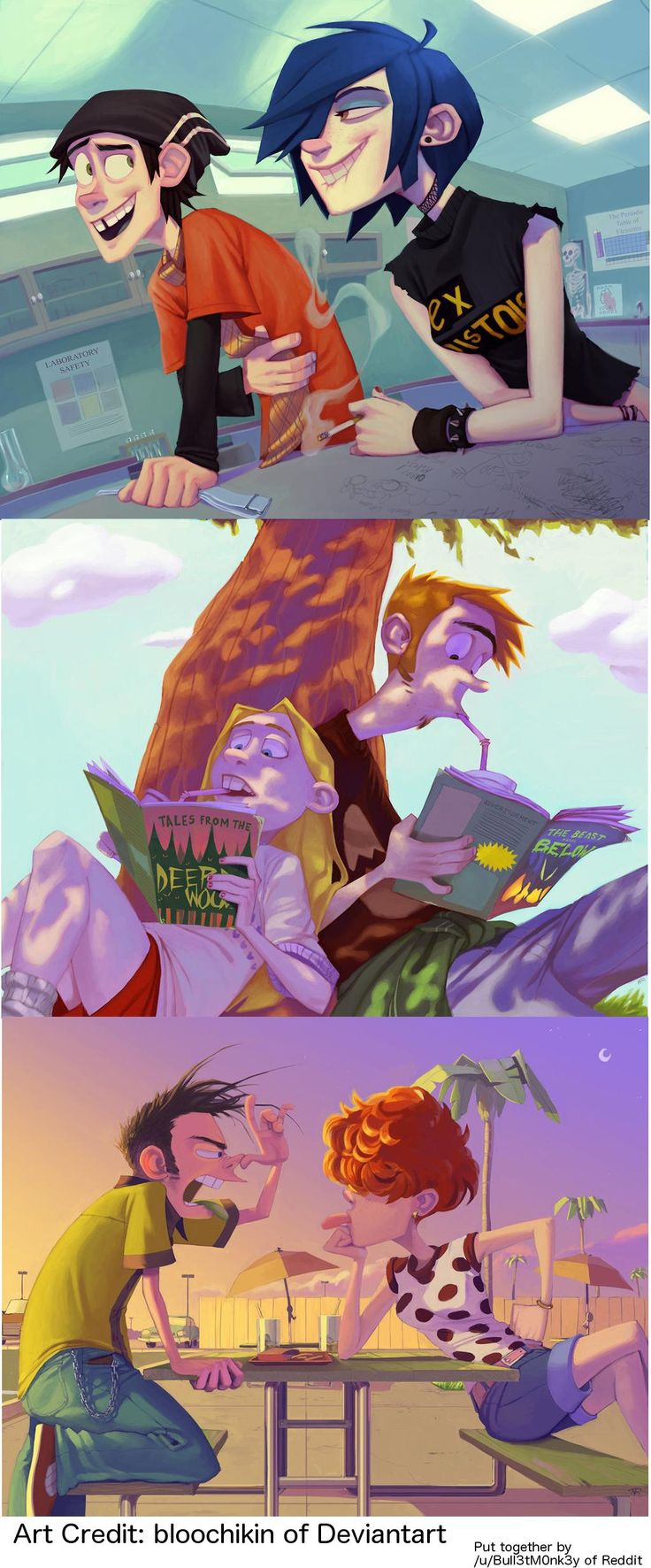 Ed, Edd, and Eddy all grown up. - Imgur