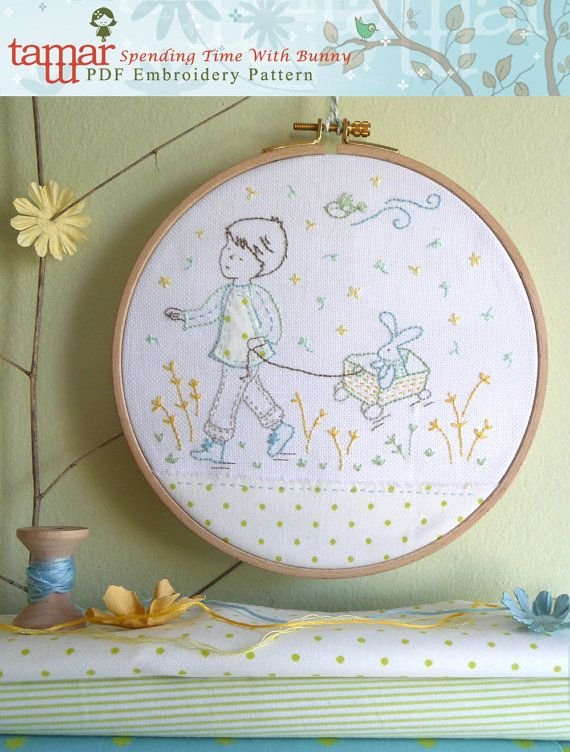 Embroidery pattern embroidery bunny  Spending by TamarNahirYanai, $5.00
