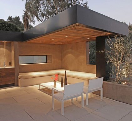 Canitlever roof over outdoor patio