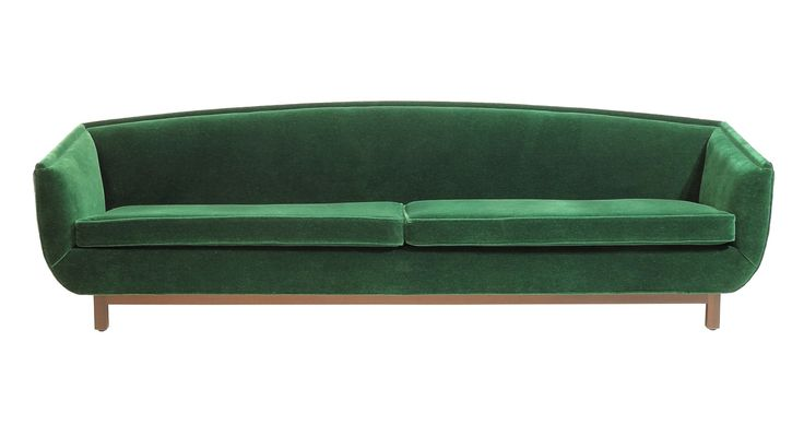 Green Couch By Peter Sandback From Dennis Miller Associates  Transitional, MidCentury  Modern, Metal, Upholstery  Fabric, Sofas  Sectional by New York Design Center