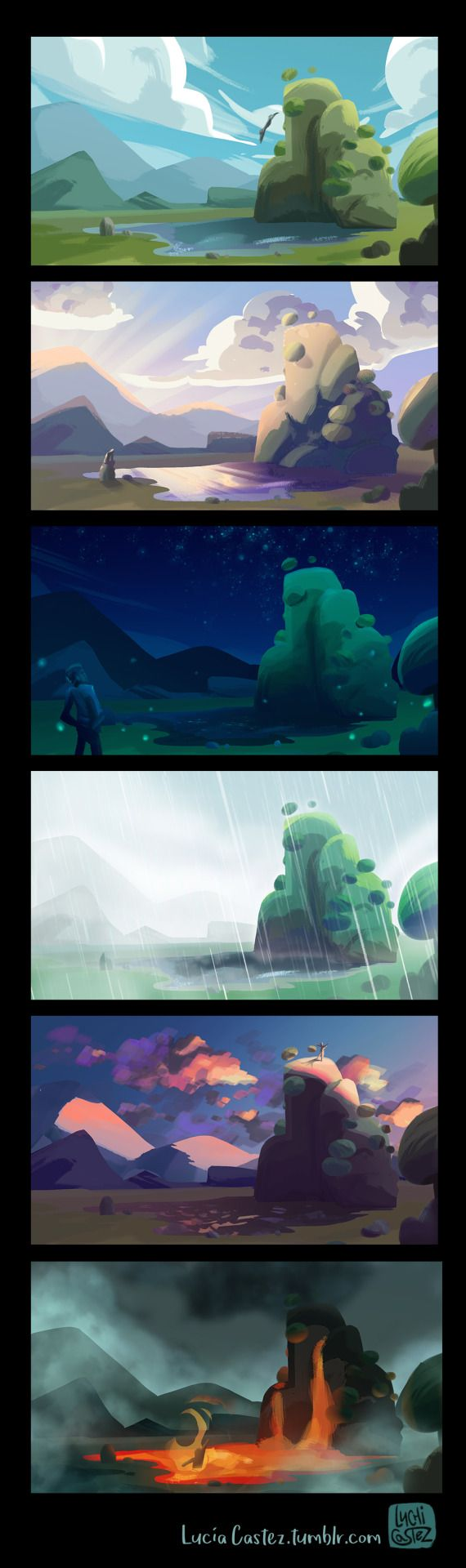 Some quick studies of color and light