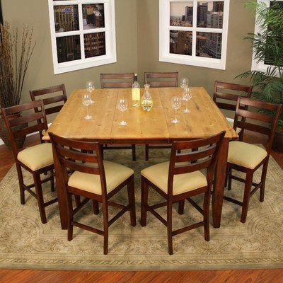 Andria Dining Table With 8 Salma Stools By American Heritage. $1509.55.  713100 Features: