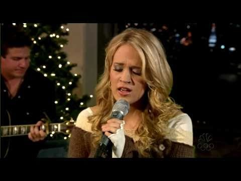 Carrie Underwood: Jesus take the wheel.  Not your traditional Christmas song, but it's a good reminder of what we need to let Him do in our lives.