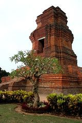 Ruins of the city gate at Trowulan, a capital city of the Majapahit Empire in Java, Indonesia