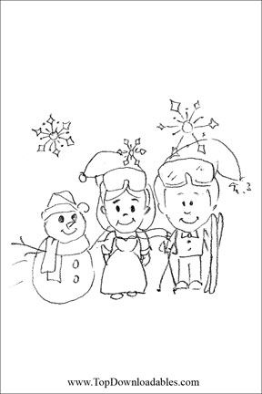 Winter Wedding Coloring Page