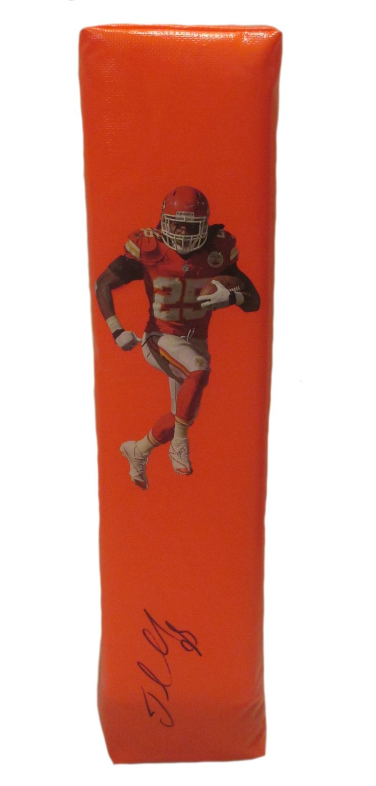Jamaal Charles signed KC Chiefs full size football touchdown end zone pylon w/ proof photo.  Proof photo of Jamaal signing will be included with your purchase along with a COA issued from Southwestconnection-Memorabilia, guaranteeing the item to pass authentication services from PSA/DNA or JSA. Free USPS shipping. www.AutographedwithProof.com is your one stop for autographed collectibles from Kansas City sports teams. Check back with us often, as we are always obtaining new items.