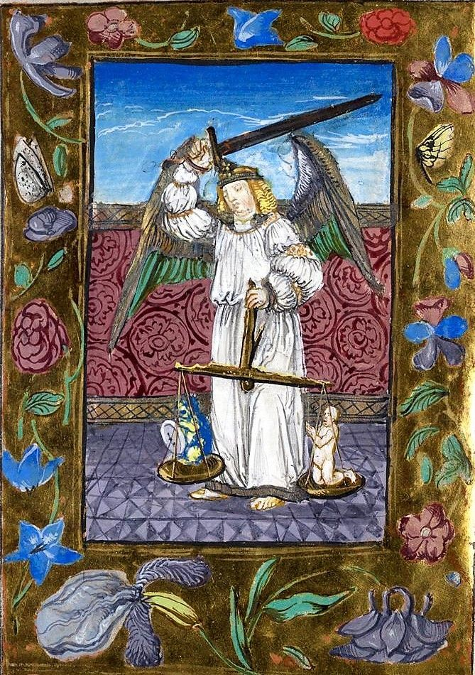 Book Of Hours Of The Margravine Susanna Of Brandenburg Durlach 2 Https Digital Blb Karlsruhe De Blbh Illuminated Manuscript Archangels Medieval Manuscript
