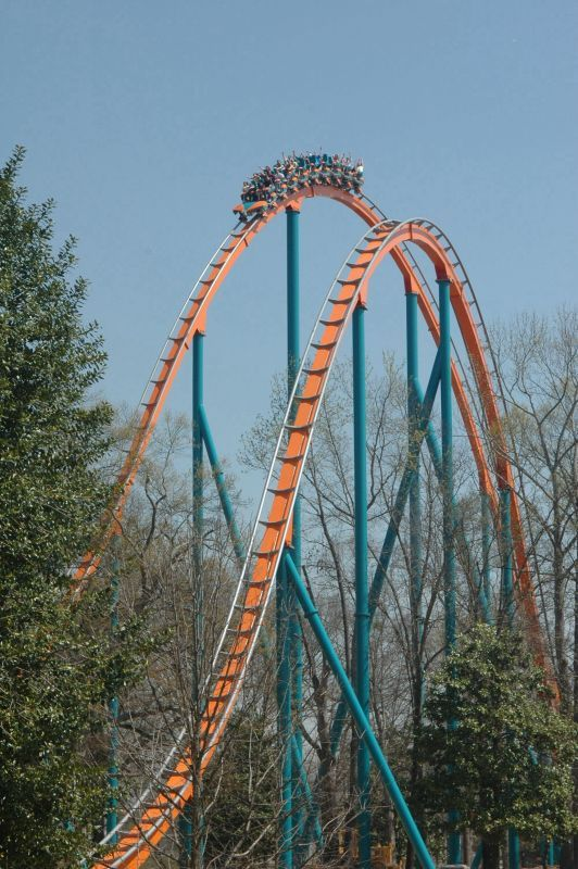 Goliath at Six Flags over Georgia, Atlanta, GA, my favorite roller coaster as of late, many fun days at Six Flags