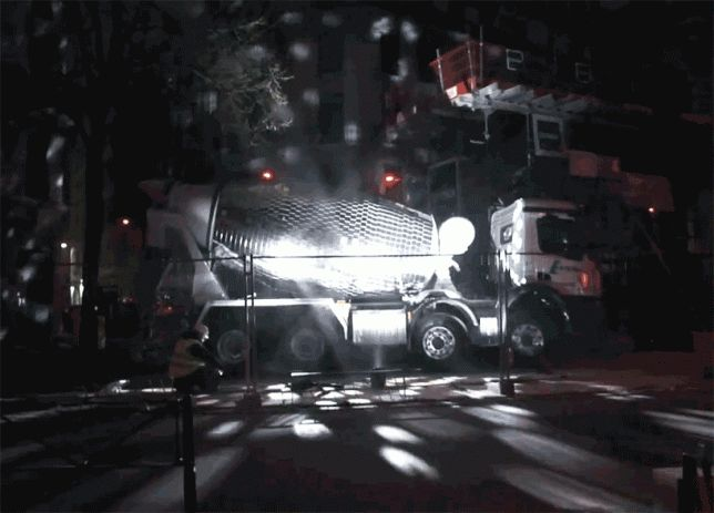 Mobile Remix: Cement Mixer Disco Ball Turns Streets into Night Clubs