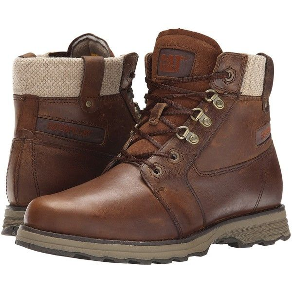 Caterpillar Casual Charli Women's Work Boots ($140) ❤ liked on Polyvore featuring shoes, boots, laced boots, light weight boots, caterpillar shoes, laced up boots and lacing boots
