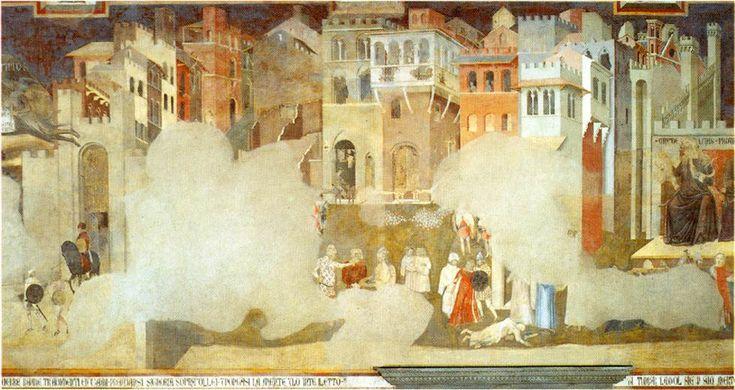 Ambrogio Lorenzetti, Good and Bad Government (1338) Sala ...
