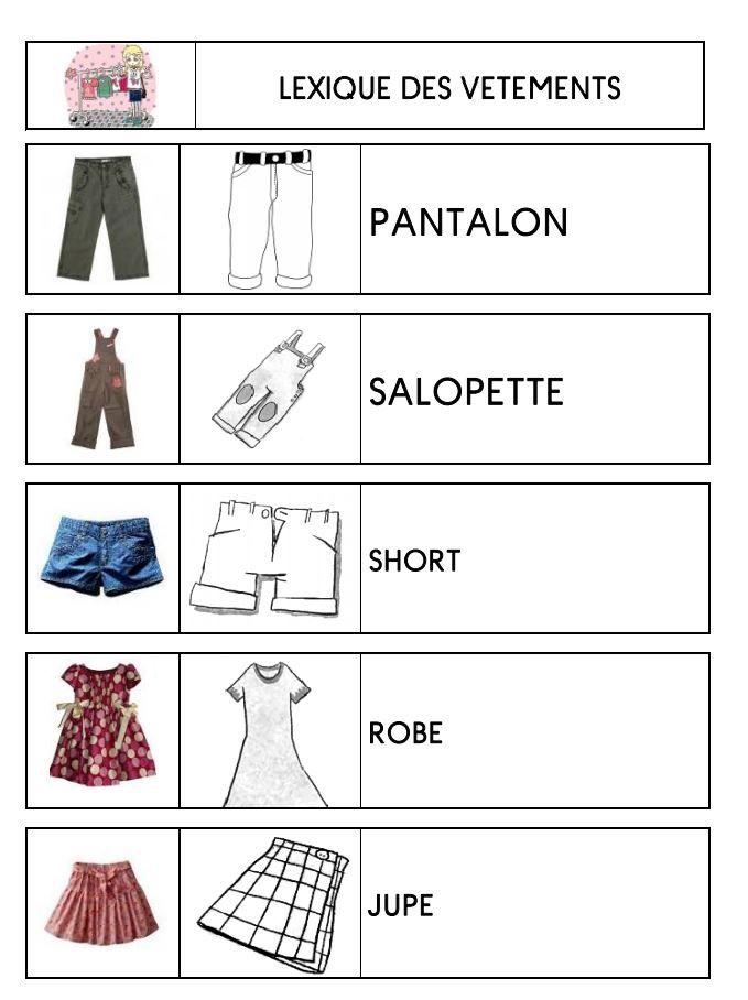 Lexique des vêtements