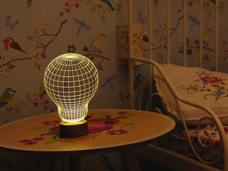 Light Up Your Life With This Charming 2D LED Lamp That Offers An Artistic Interpretation Of