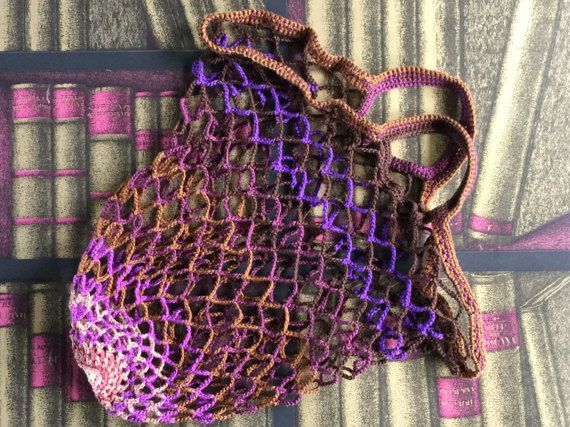 Mesh bag // Handmade cotton net bag // Crochet bag // by PiNetjes