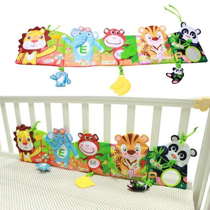 Giường con xung quanh và cloth book với mô hình động vật bé đáng yêu toys cho bé giường yyt504-yyt505