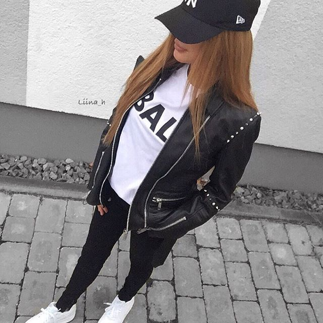 Chill out look schöne Sachen aus Leder, wie meine tolle Lederjacke, findet ihr bei ANAAGA  Shirt @balr