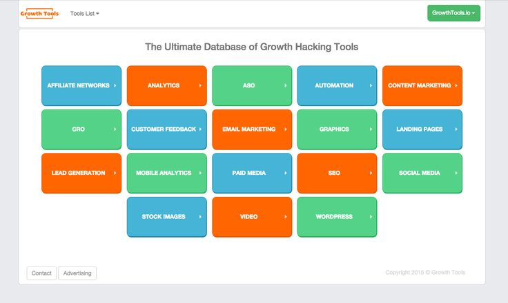 Growth Tools – The best damn way to search and discover growth hacking tools on the planet
