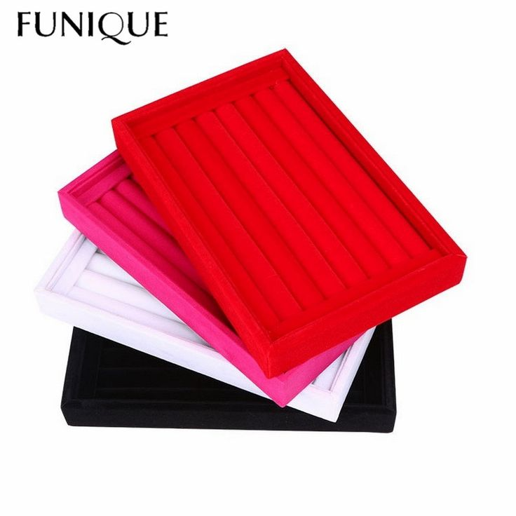 Cheap jewelry box, Buy Quality jewelry display directly from China earring organizer Suppliers: FUNIQUE Velvet Suede Ring Earrings Organizer Ear Studs Jewelry Display Stand Holder Rack Showcase Plate Jewelry Box