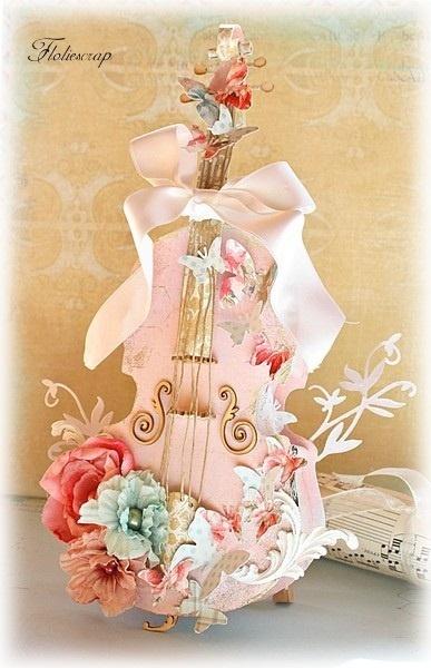 violin shaped gift box