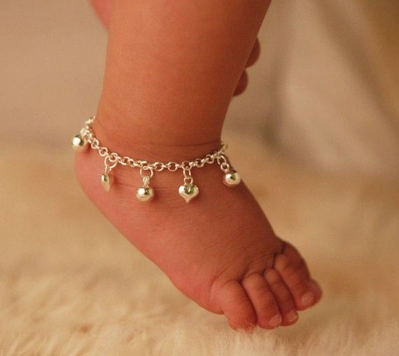 This sterling silver Jingle Bells + Hearts Anklet is stylish  and designed for everyday wear.