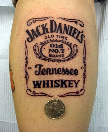 unique jack daniels tattoo skulls 39 n 39 stuff pinterest. Black Bedroom Furniture Sets. Home Design Ideas