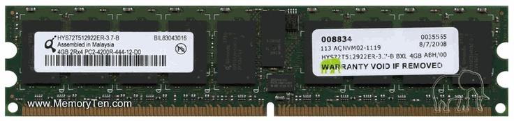 4GB PC2-4200 DDR2-533 Registered ECC 2Rx4 240-pin DIMM Memory Module $99.98