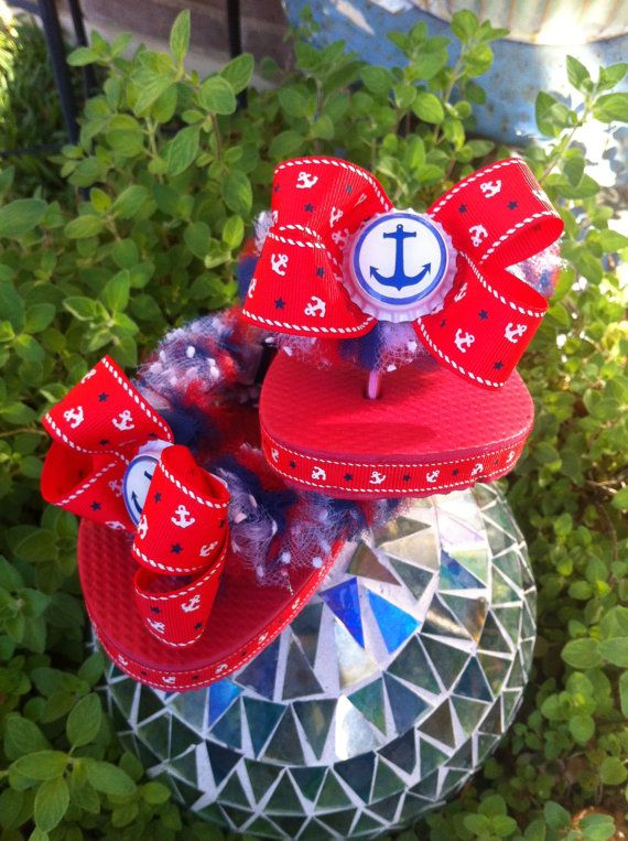 Girl's+Natuical+Red+White+Dot+and+Navy+Tulle+by+BlackDahliaDog