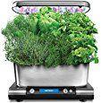 AeroGarden Harvest Elite with Gourmet Herb Seed Pod Kit Stainless Steel