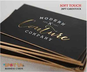 sexy business cards: white and gold on black with gided edges;)