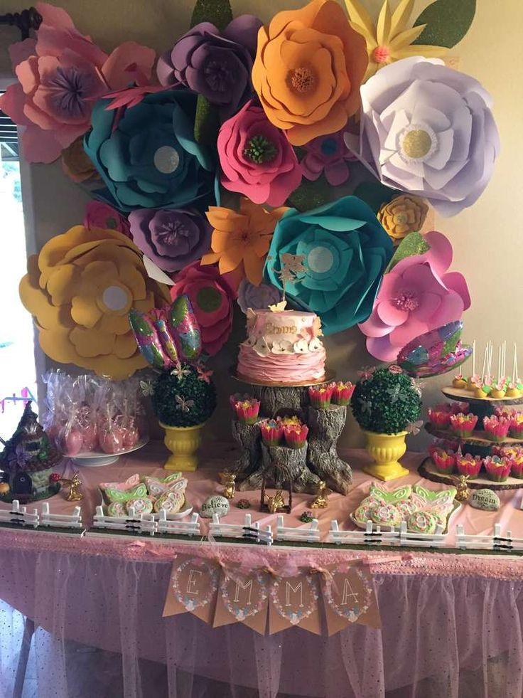 Fairies Birthday Party Ideas Fairy birthday party Paper flower