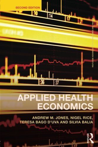 The first edition of Applied Health Economics did an expert job of showing how the availability of large scale data sets and the rapid advancement of advanced econometric techniques can help health economists and health professionals make sense of information better than ever before. This second... more details available at https://insurance-books.bestselleroutlets.com/health/product-review-for-applied-health-economics-routledge-advanced-texts-in-economics-and-finance/