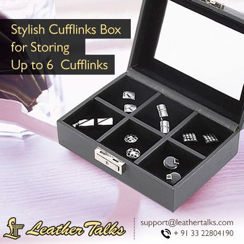Luxury has no boundaries. Save those precious little cufflinks in a box that you'll adore forever. Buy it online here at: http://leathertalks.com/product/cufflinks-box/