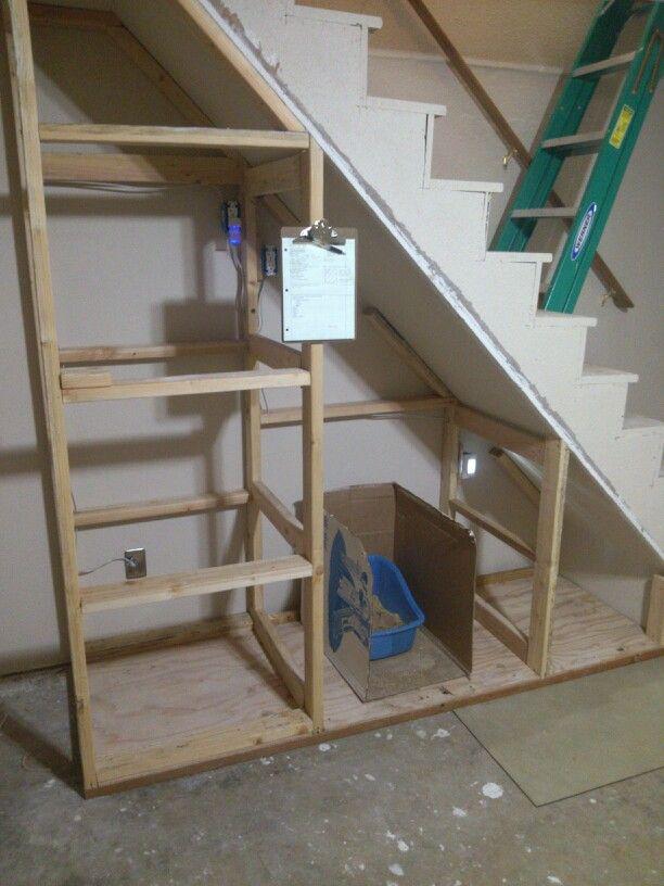 Under Stairs Basement Ideas: UNDER STAIR STORAGE