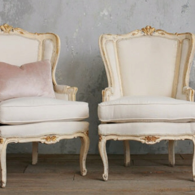 French Wingback Bergeres Vintage Louis XV Chairs By Bohemiennes