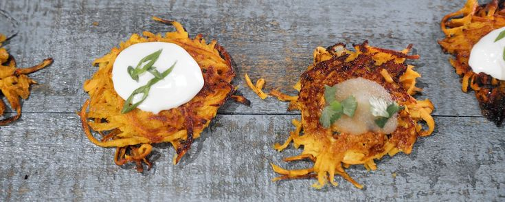 These sweet potato latkes are perfect for Hanukkah!