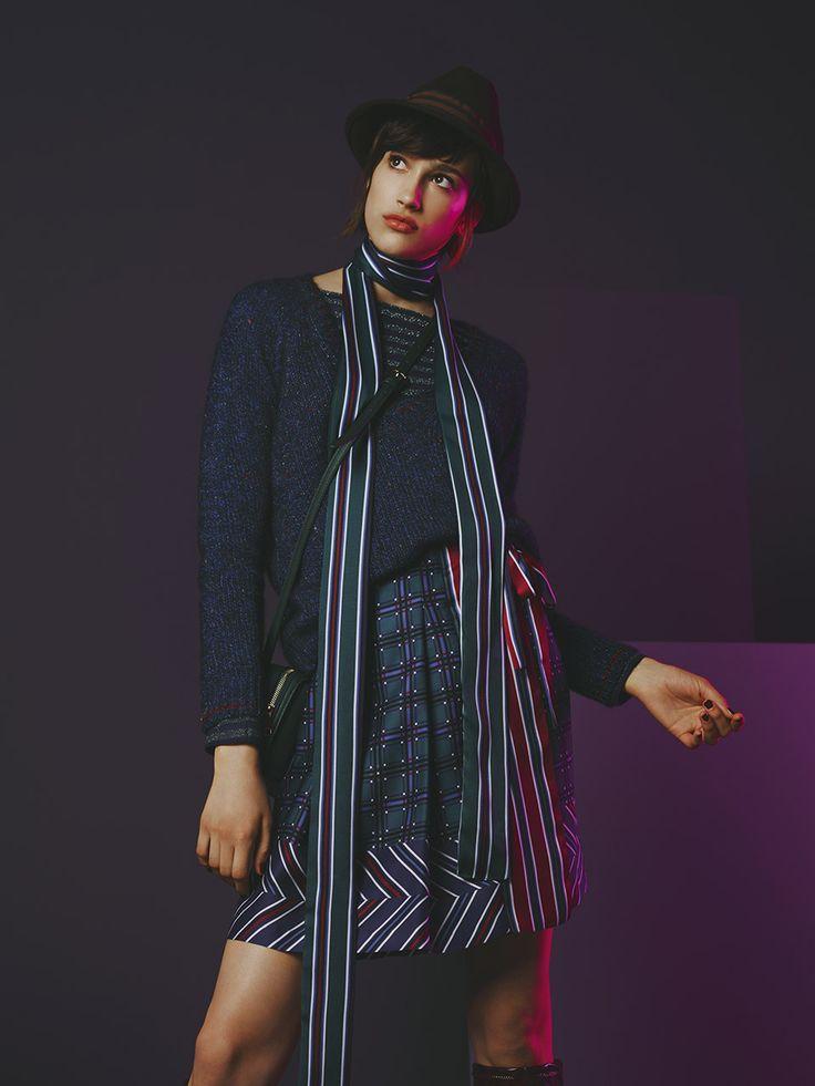 #Sisley #Sisleyfashion #FW2017 #woman #collection #fashion #trend #blouses #stripes #knitwear #hat #shirt