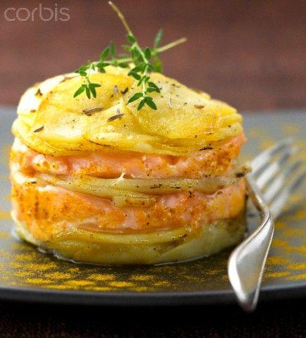 Timbales de salmón con salsa holandesa, utilizando Thermomix, cocina fácil y bara