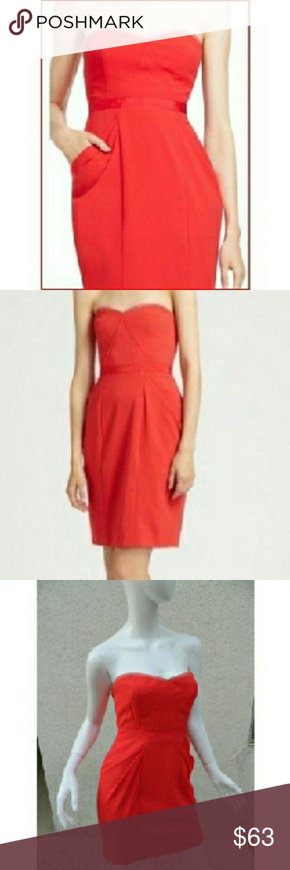 BCBG MAX AZRIA Dress Strapless Red Dress Sweet BCBG MAX AZRIA Dress Strapless Red Dress Sweet heart Size 4 BCBGMaxAzria Dresses Strapless