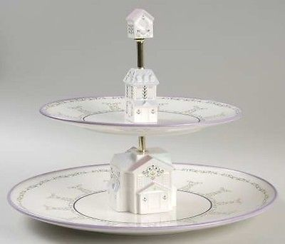 Lenox Village Two Tier Serving Tray Tiered Server