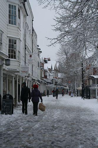 Pantiles in the Snow, Tunbridge Wells - Kent.