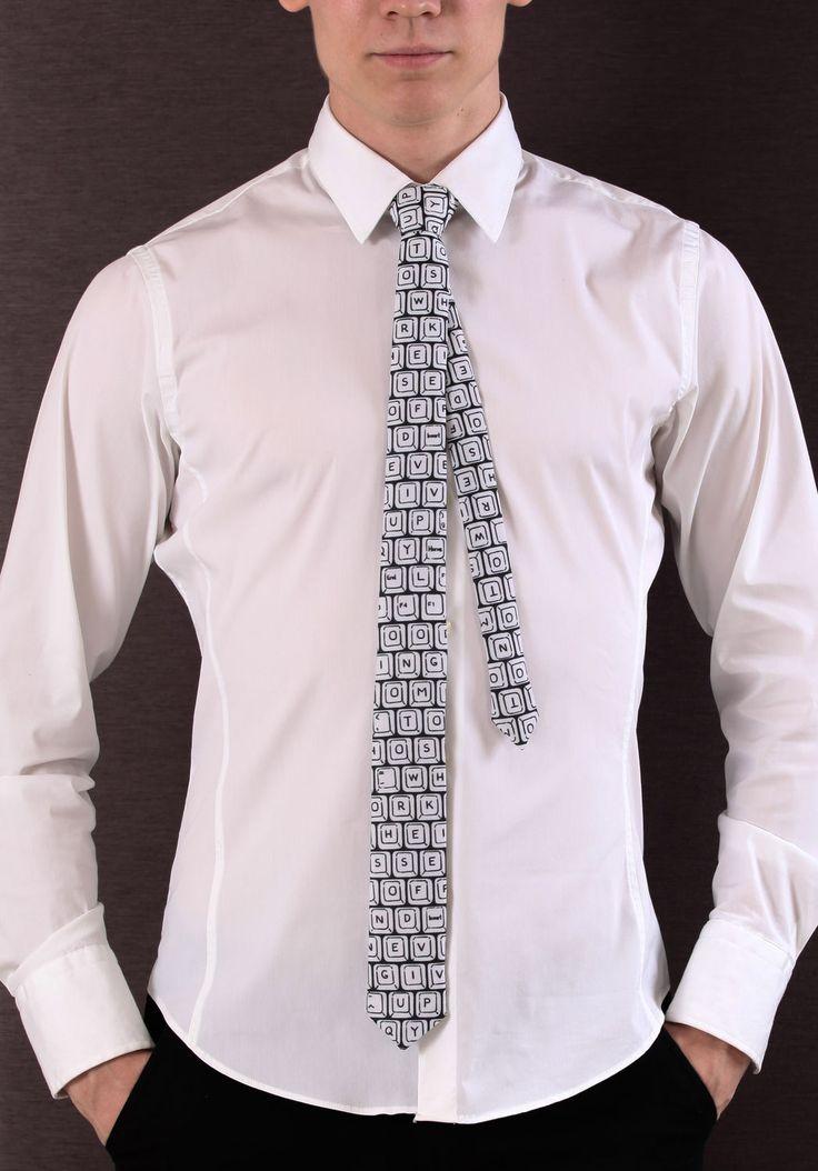 Necktie with keyboard! tight tie